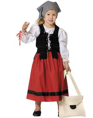 Disfraz de castañera deluxe para niña