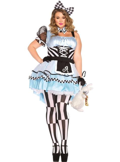 Alice in Wonderland Plus Size kostuum voor vrouwen