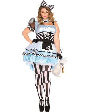 Dámsky kostým Alica v ríši divov v nadmernej veľkosti