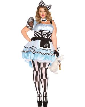 Fato de Alice no país maravilhoso tamanho XXL para mulher