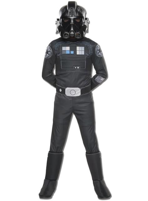 Disfraz de piloto caza TIE Star Wars Rebels deluxe para niño