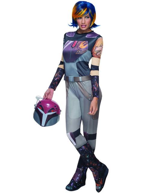 Disfraz de Sabine Wren Star Wars Rebels para mujer