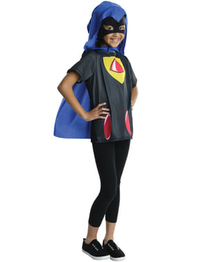 Girls Raven Teen Titans Go Costume Kit