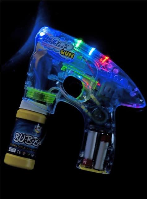 Pistola de burbujas con luz