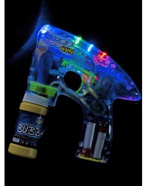 Pistola de bolhas de sabão com luz