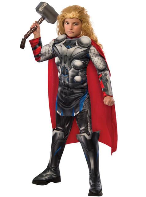 Fato de Thor Vingadores: Era de Ultron deluxe para menino