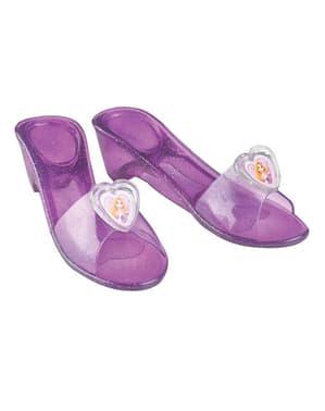 Sapatos de Rapunzel para menina