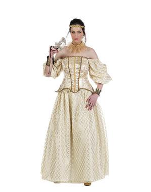 Koningin Isabel van Engeland kostuum voor vrouw