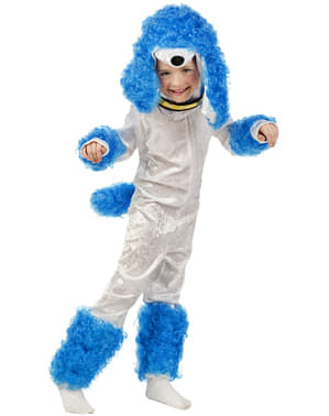 Disfraz de caniche pequeño azul para niño