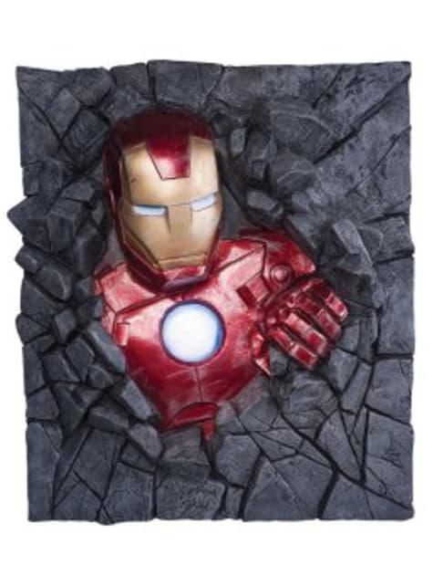 Figura decorativa Iron man pared Marvel