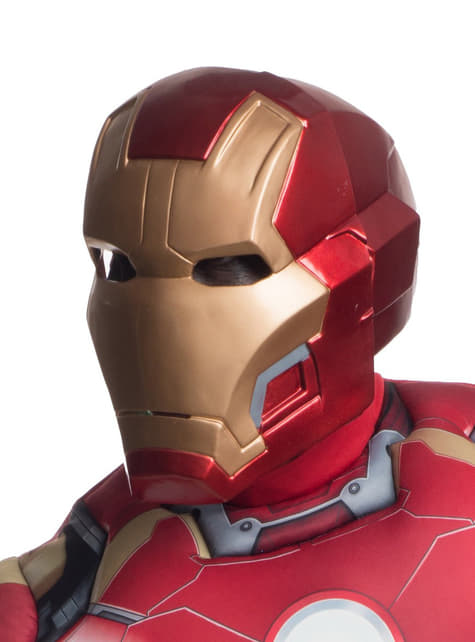 Adults Iron Man The Avengers: Age of Ultron Two Piece Deluxe Mask