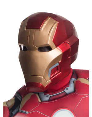 Máscara Iron Man dos piezas Vengadores: La Era de Ultrón deluxe para adulto