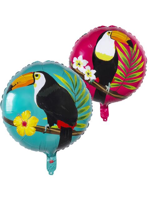 Ballon aluminium toucan deux couleurs (45 cm) - Toucan Party