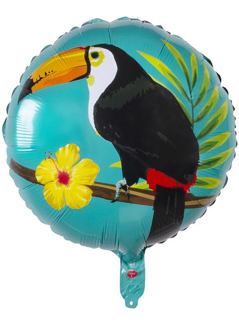 Ballon aluminium toucan deux couleurs (45 cm) - Toucan Party - pour vos fêtes