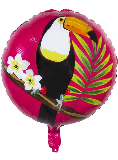 Ballon aluminium toucan deux couleurs (45 cm) - Toucan Party - pas cher