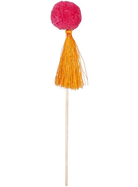 6 agitadores com esponjas - Lovely Llama - para as tuas festas
