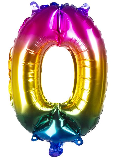 Ballon aluminium 0 multicolore 36 cm