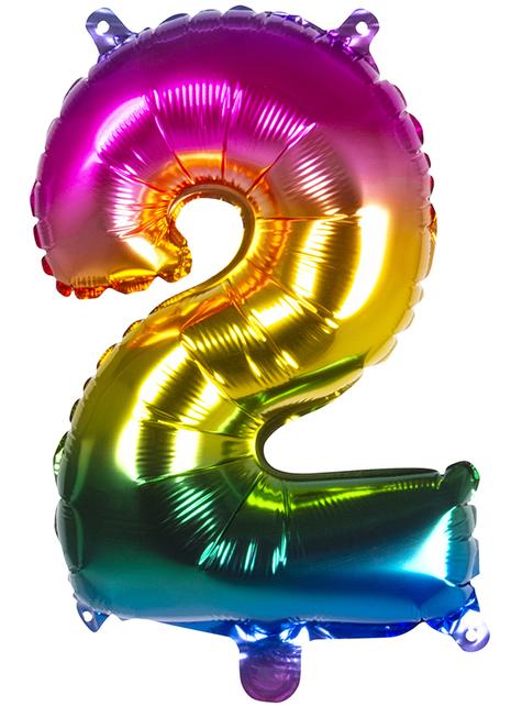 Ballon aluminium 2 multicolore 36 cm