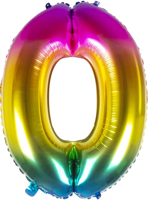 Foil balloon 0 multicolor 86 cm