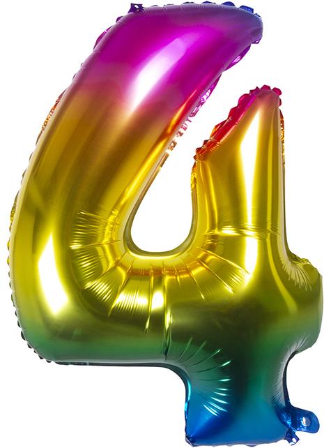 Folieballon 4 flerfarvet 86 cm