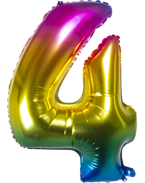 Folie ballon 4 multigekleurd 86 cm