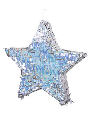 Pinata cu formă de stea argintie