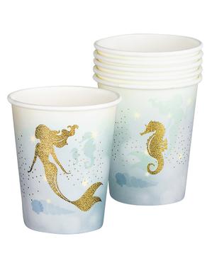 6 Meerjungfrau Becher - Mermaid Collection