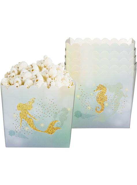 6 Meerjungfrau Snack Schachteln - Mermaid Collection
