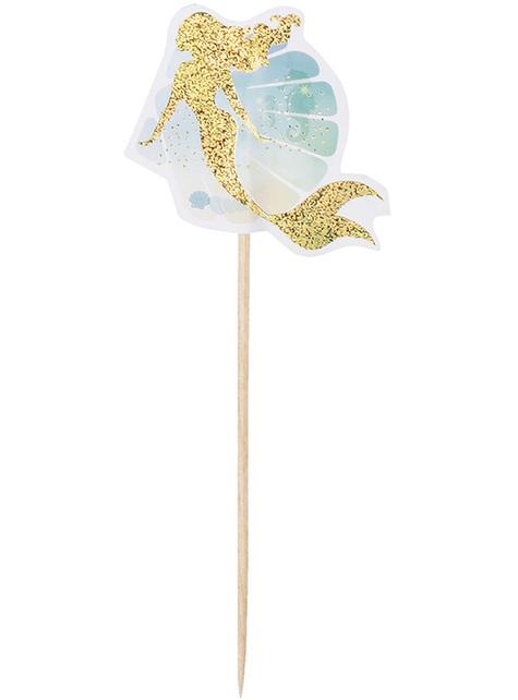 12 palillos decorativos de sirenas - Mermaid Collection