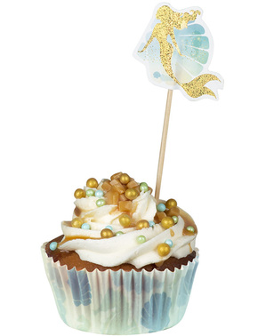 50 formas para cupcakes com cavalos marinhos - Mermaid Collection