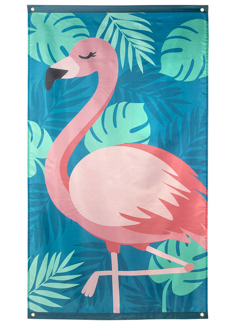 Bandera de flamenco rosa - Flamingo Party