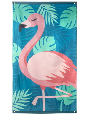 Flamingo vlag in roze - Flamingo Party