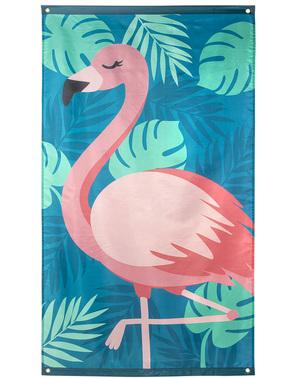 Zástava Plameniak v ružovej farbe - Flamingo párty