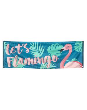 """Знаме """"Let's Flamingo""""– Flamingo Party"""