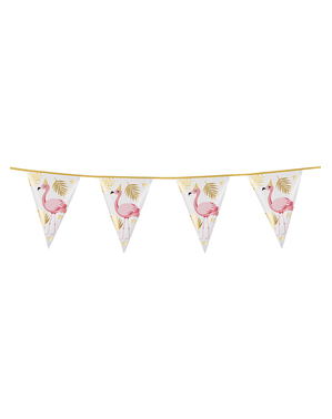 Foil garland with flamingos - Flamingo Party