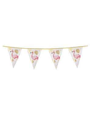 Foil garland with flamingos - Flamingo Party