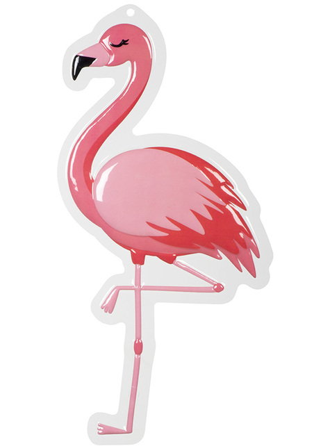 Decoración colgante de flamenco - Flamingo Party