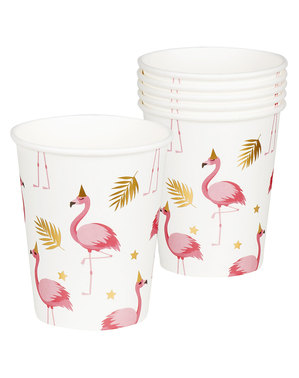 6 vasos de flamencos - Flamingo Party