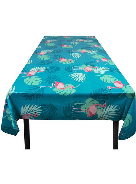 Flamingo tablecloth in blue - Flamingo Party