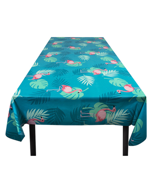 Flamingo tablecloth in blue - Flamingo Party