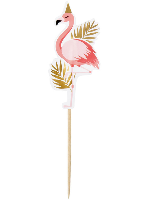 12 decorative flamingo sticks - Flamingo Party