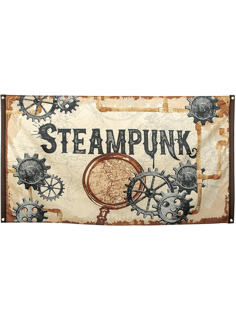 Bandeira Steampunk castanha - Steampunk Collection