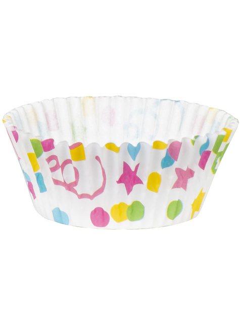 50 bases for cupcakes with polka dots and stars - cheap
