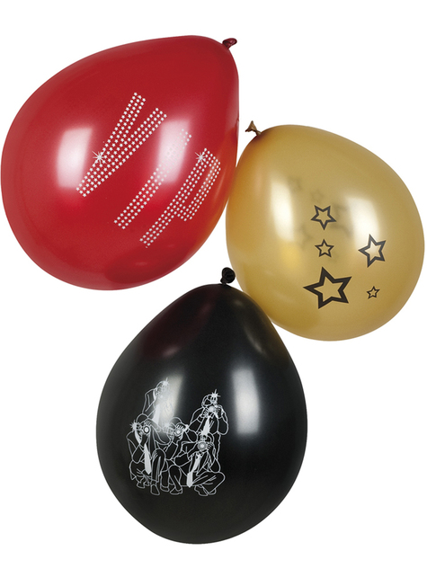 3 palloncini per festa VIP colori assortiti (25 cm) - Elegant Collection