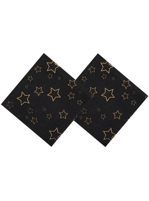 12 serviettes fête VIP (25 cm) - Elegant Collection