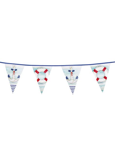 Guirnalda de banderines marineros - Sea Party