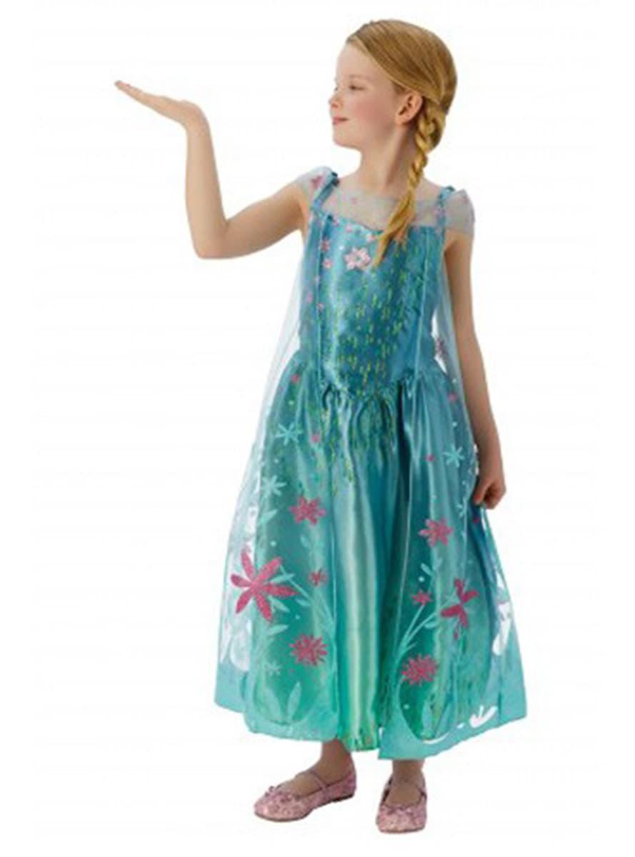 Costume elsa la reine des neiges une f te givr e fille funidelia - La reine elsa ...
