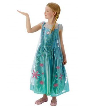 Kostium Elsa Frozen Fever dla dziewczynki