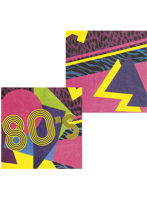 12 eighties napkins (33x33 cm) - Pop Party - for your party decorations