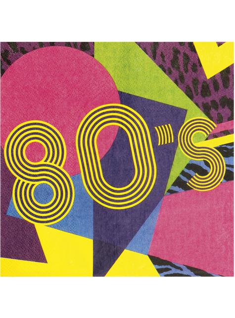 12 eighties napkins (33x33 cm) - Pop Party - the coolest